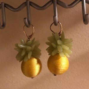J. Crew pineapple earrings